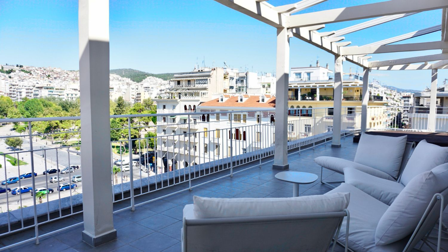 Spacious Balcony with City View