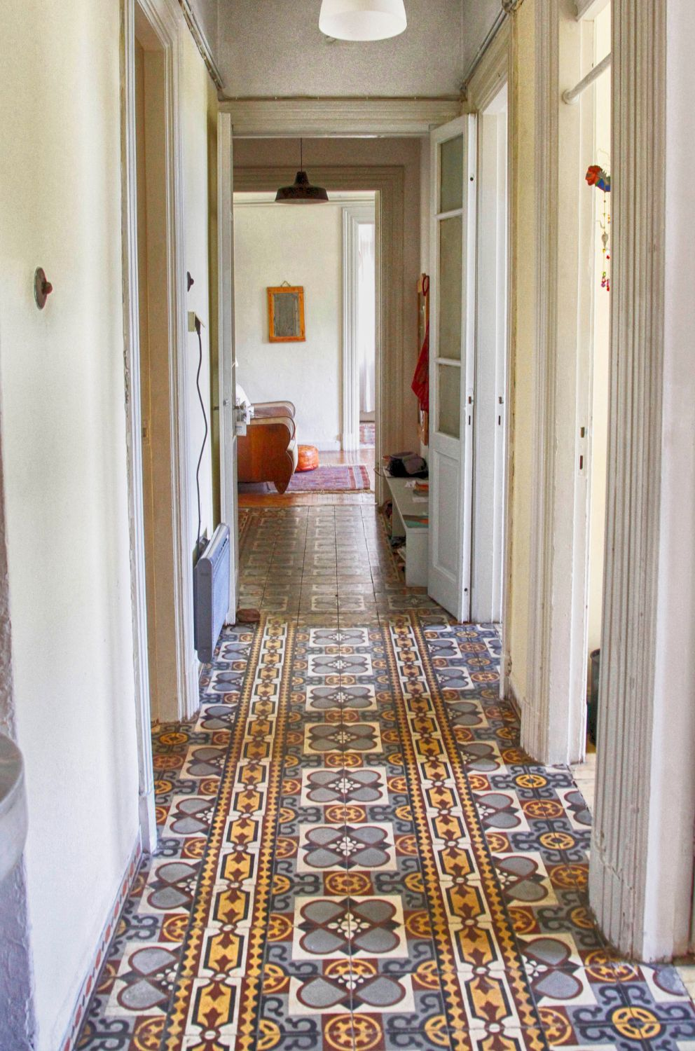 Hallway to the living rooms