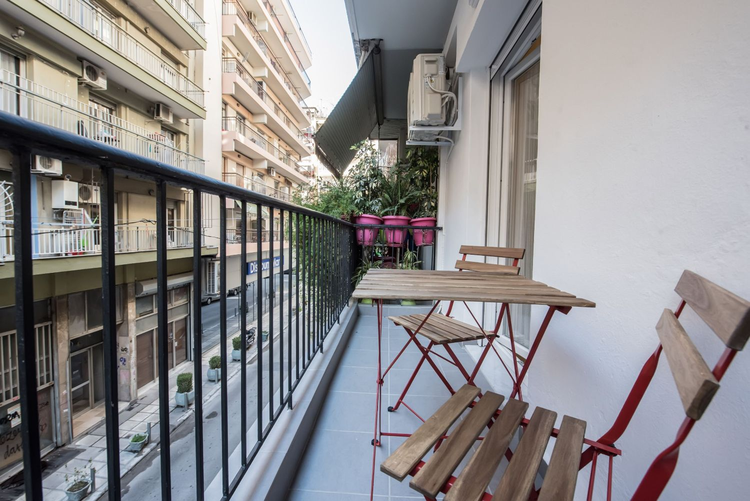 Apartment Balcony with Street View