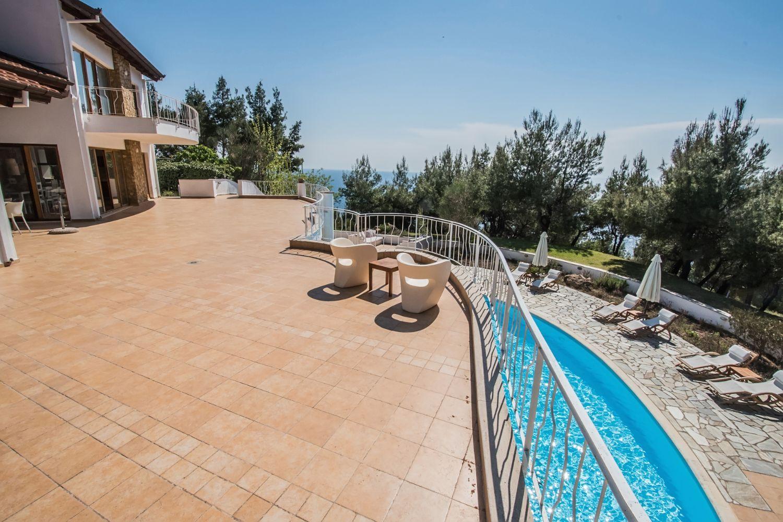 Villa Hera Balcony and Pool View