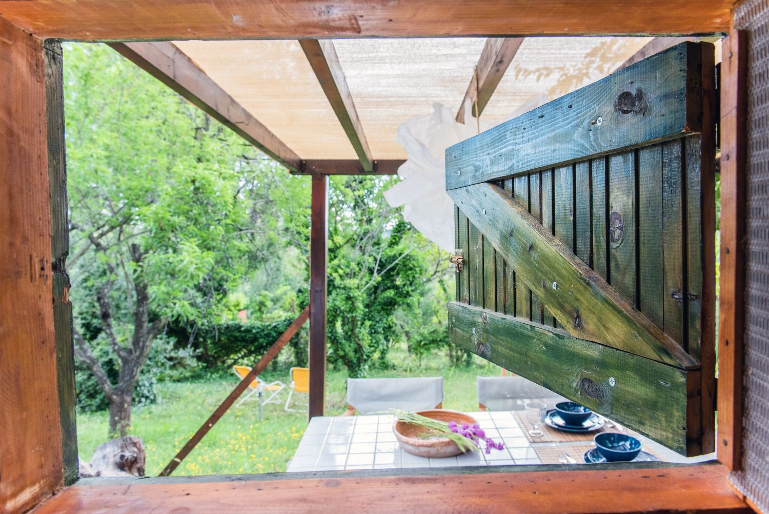 Room Window to Outdoor Dining area