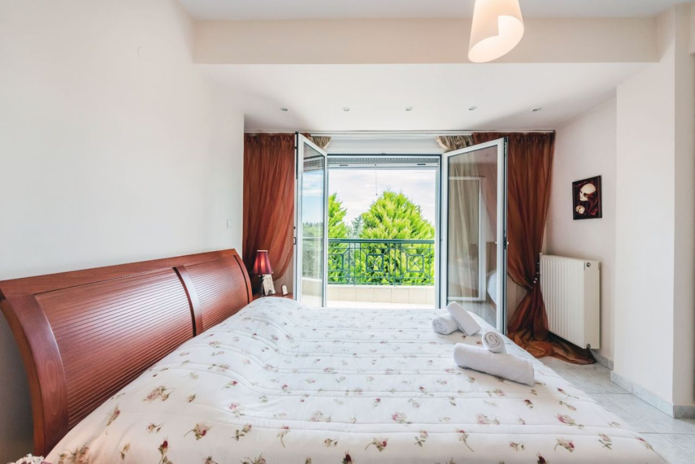Bedroom 1 with 1 Double Bed and Balcony