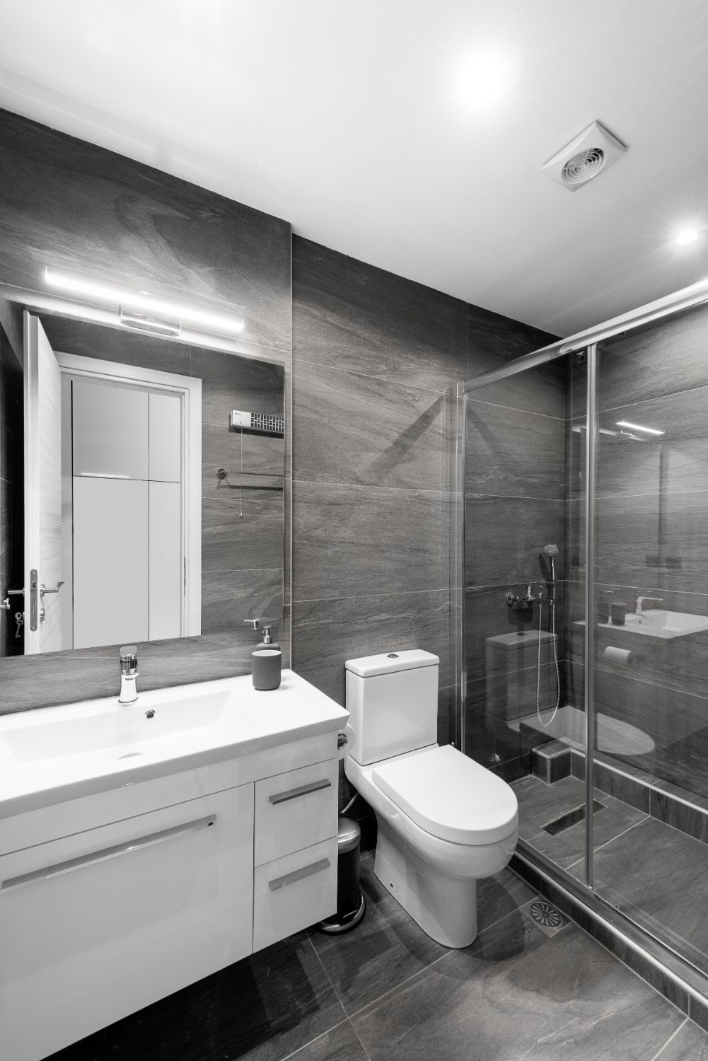 Suite #2, Bathroom with Shower and WC