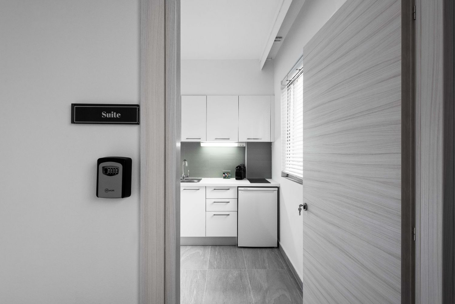 Suite #2, Entrance and Kitchenette