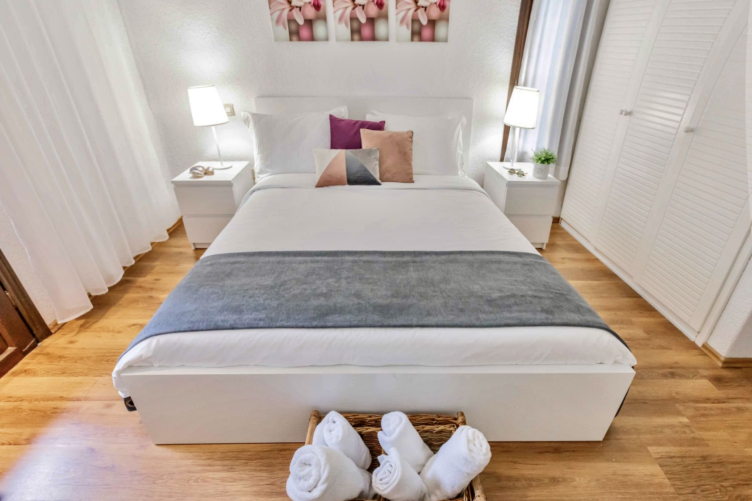Bedroom 1, with double bed