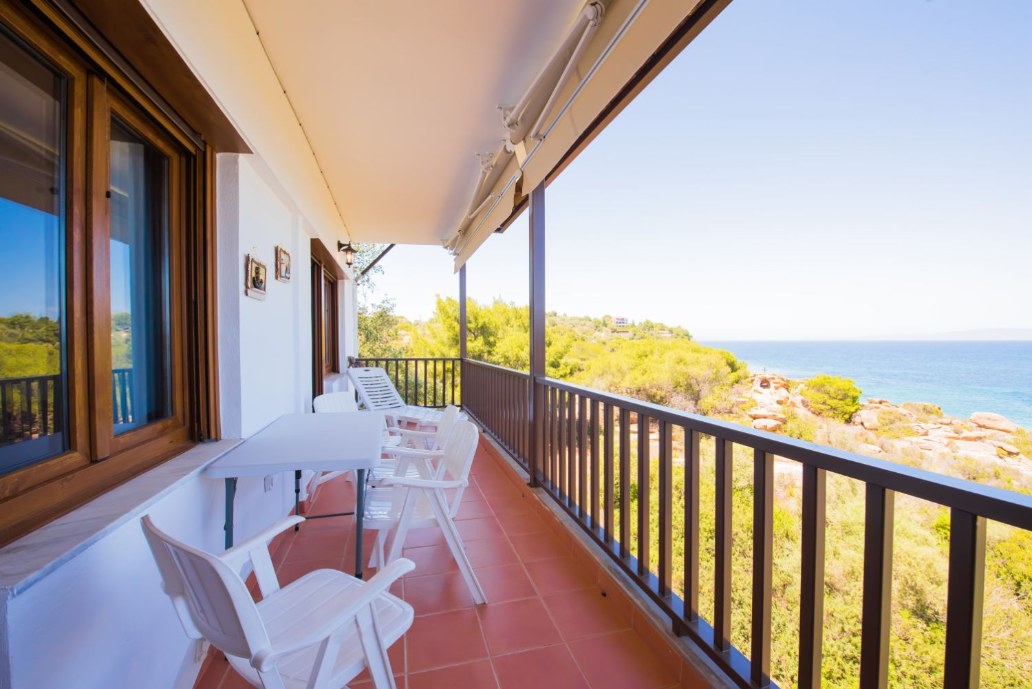 Balcony seating area and view