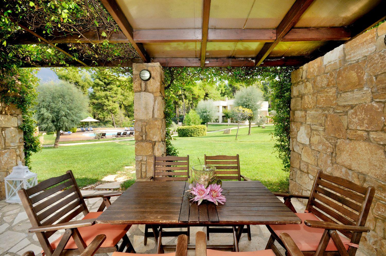 Veranda seating area and view