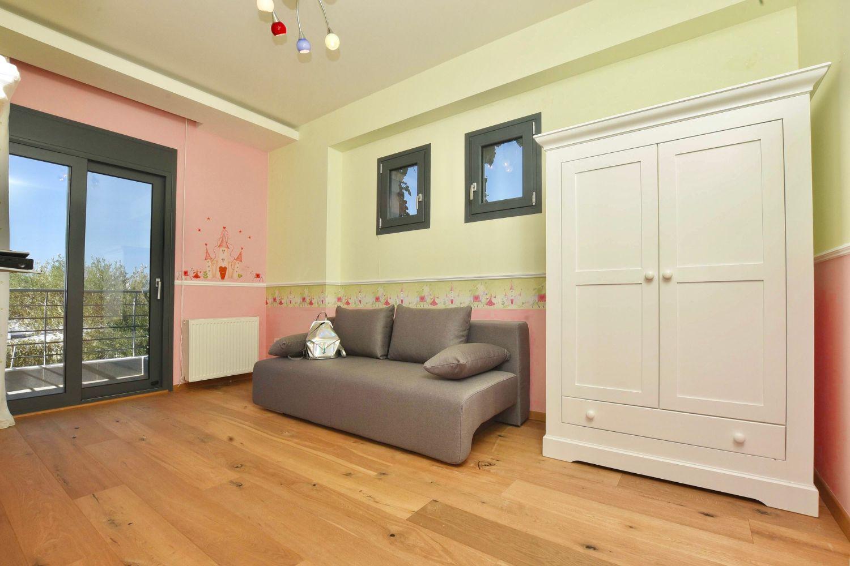Playroom with a sofa