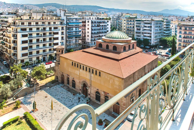 Balcony view to Agia Sofia