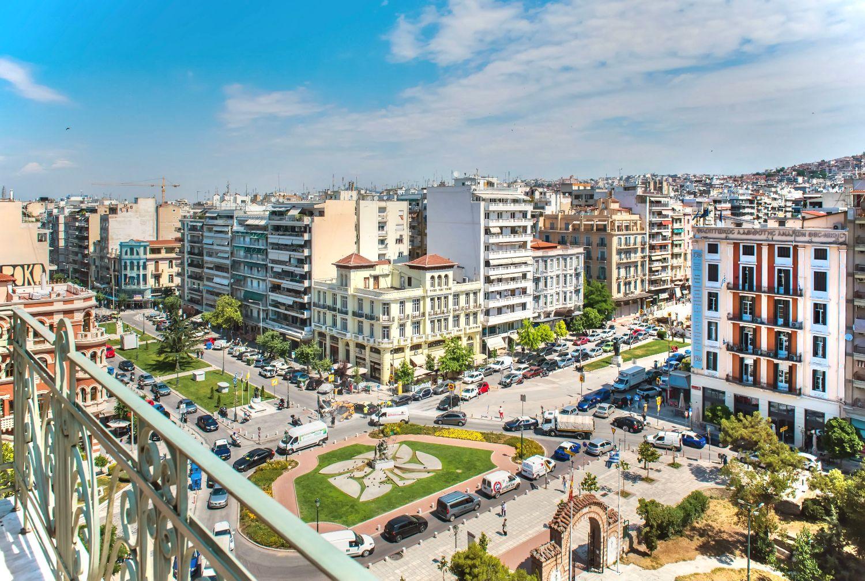 Balcony view to Agia Sofia Square