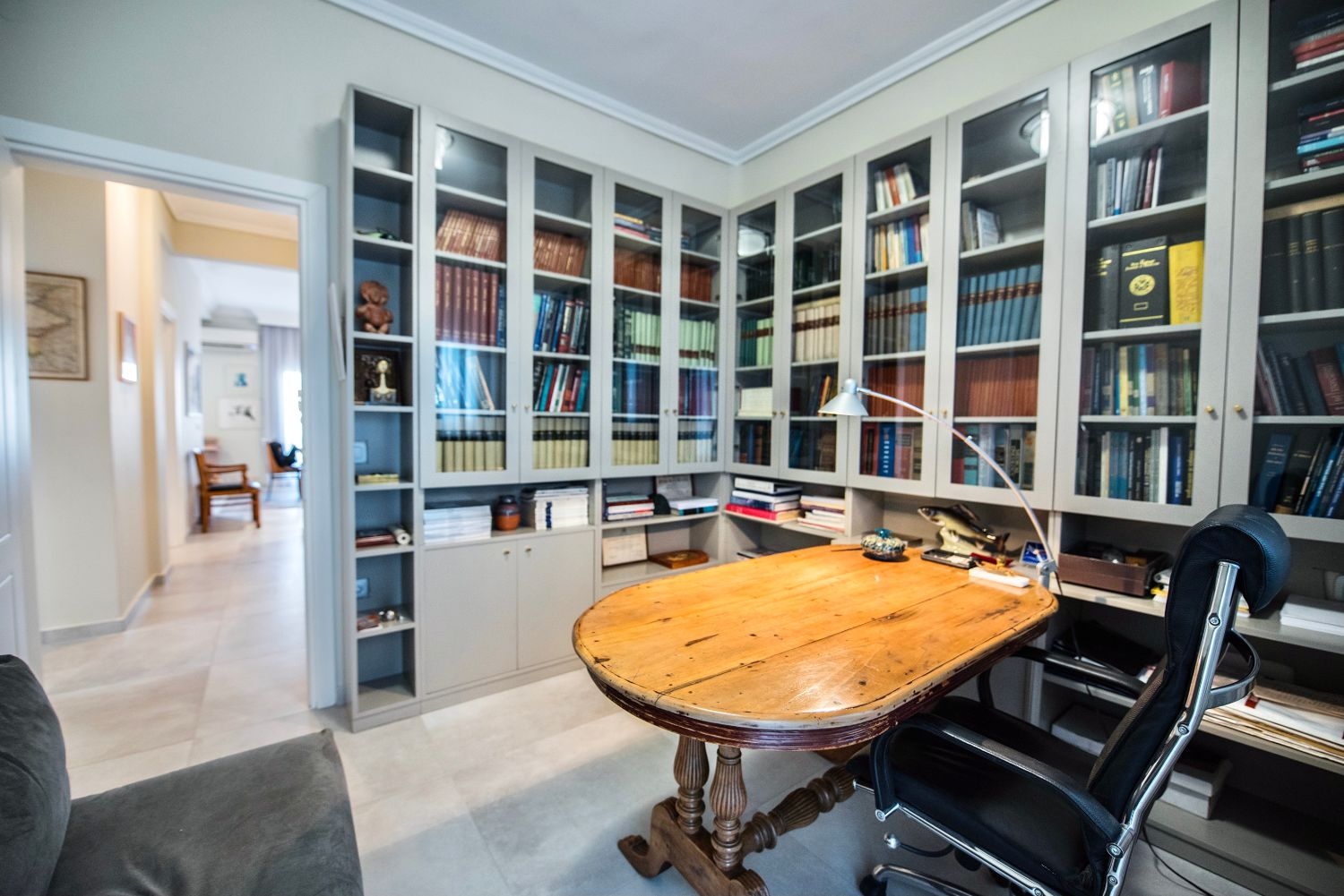 Home office and hallway