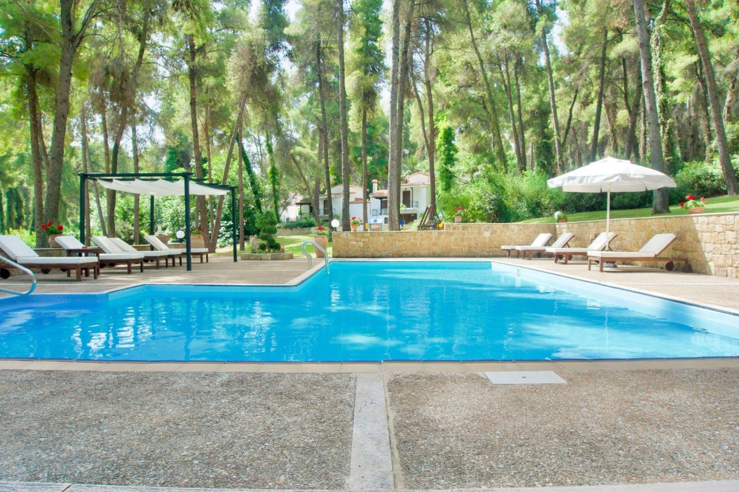Swimming pool communal space